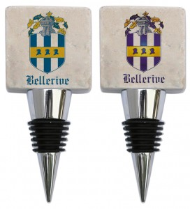 Custom Marble stopper with Bellerive Logo