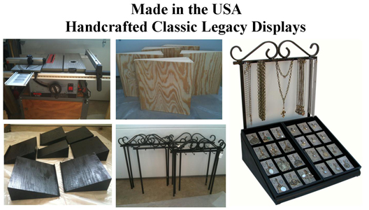 Made in the USA  Handcrafted Jewelry Displays by Classic Legacy