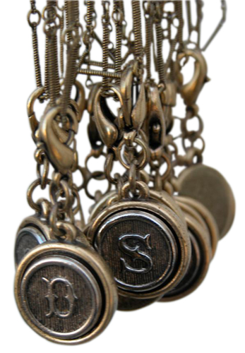 Initial Charms Vintage Inspired Personalized Jewelry Keepsakes