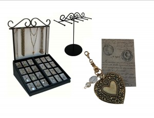 Made in USA display for Vintage Inspired Jewelry by Classic Legacy