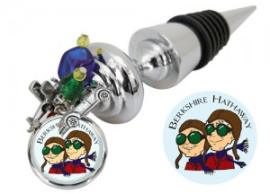 Wine Bottle stopper 2011 Berkshire Hathaway custom by Classic Legacy