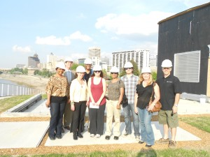 Tour Group learning about Beale Street Landing