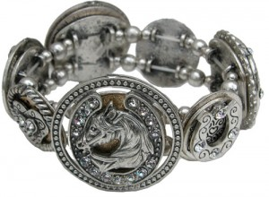 Bracelet with Seven Different Horse Medallion by Classic Legacy