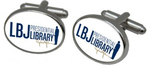 Cuff Links with LBJ logo designed by Classic Legacy