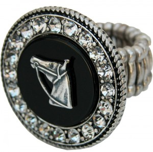 Ring Black Onyx with silver horse head designed by Classic Legacy