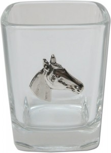 Shot Glass with silver Horse Head