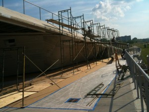 Scaffolding at the Beale Street Landing Project