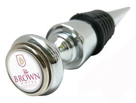 Silver Classic Brown Hotel Bottle Stopper