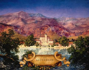 Maxfield Parrish Painting of The Broadmoor Hotel