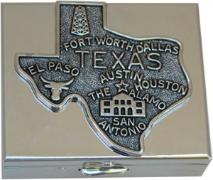 Small Silver Box with Texas Medallion