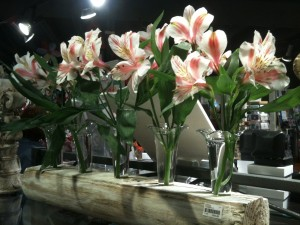 Flowers for the new Classic Legacy wooden/glass centerpiece.