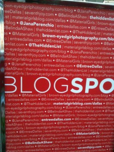 The DMC set aside a special spot for bloggers!