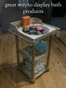Sink Display for Bath Products Sighted by @classiclegacy