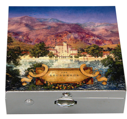 Small Silver Box with Maxfield Parrish Painting by Classic Legacy