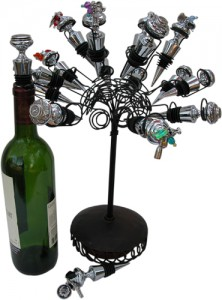 Metal Flower Stand used to display Classic Legacy Wine Bottle Stoppers