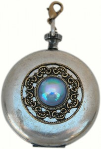 Silver Pocket Watch Fob Charm Classic Legacy collection