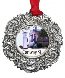 Christmas Ornament with Conway SC Courthouse designed by Classic Legacy