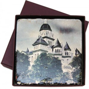Marble Coaster with Jasper County Courthouse / Classic Legacy