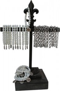 Classic Legacy Bracelet Display Wrought Iron and Wood
