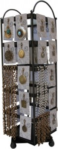 Wrought Iron Rotating  Classic Legacy Necklace Display Vintage Inspired