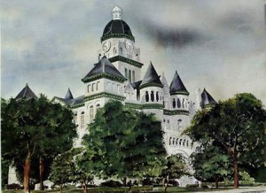 Jasper County Courthouse Original Painting