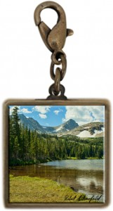 Charm for Necklace or Bracelet with Paiute Peak  Photo
