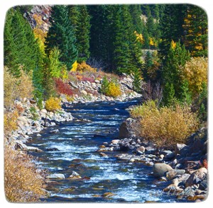 Marble Coaster featuring photo of South Boulder Creek