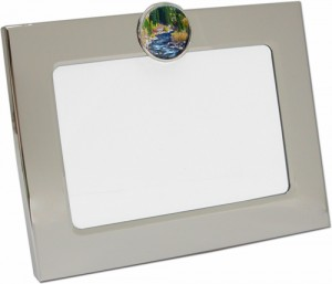 Silver Photo Frame with South Boulder Creek Photo