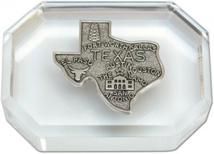 Paperweight with Silver Texas Medallion