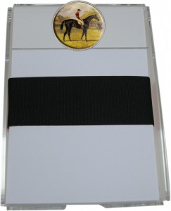 Notepad with Vintage Horse Race Medallion