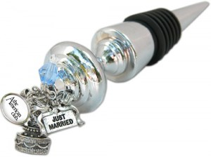 Custom Personalize Wine Bottle Stopper Wedding theme with American Club logo