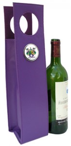 Wine Carrier with Mardi Gras Krewe Medallion