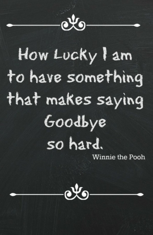 Quotes How Lucky I am Winnie the Pooh Quote