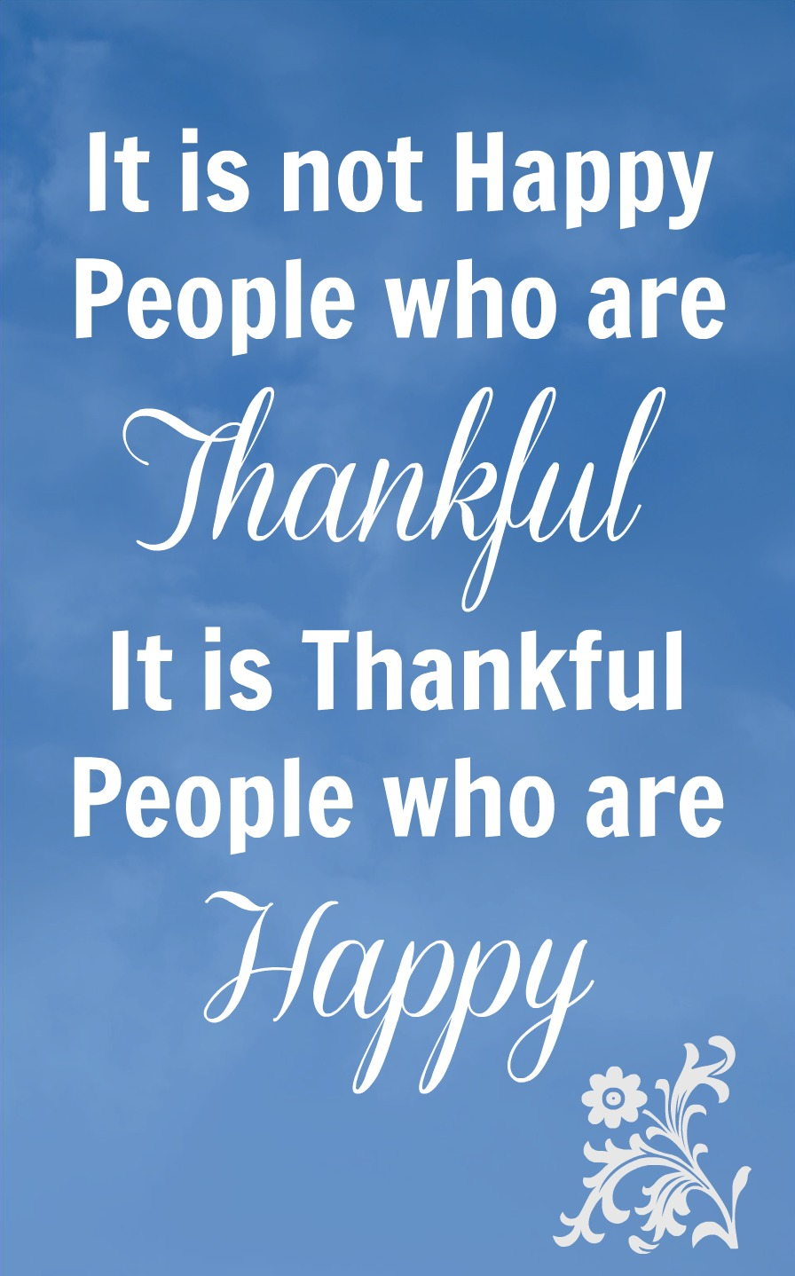 Thankful People who Are Happy 9-17-13