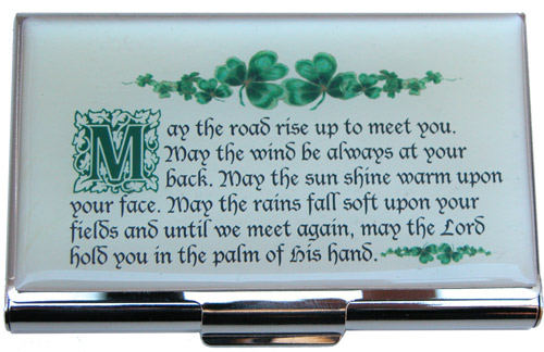 Irish quotes inspired this Business Card Holder with Irish Blessing