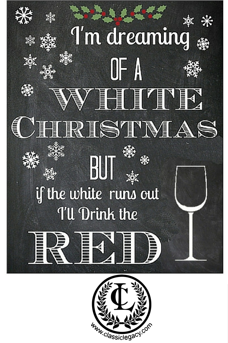 Dreaming of White Christmas but if white runs out...