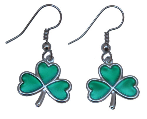 Irish Quotes Inspire Shamrock Earrings by Classic Legacy