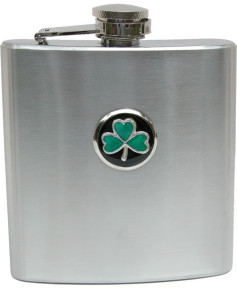Irish Quotes inspire Irish gifts like this Irish theme flask with Shamrock