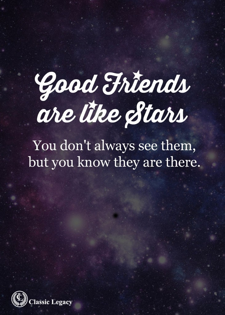 Quotes Good Friends are Like Stars