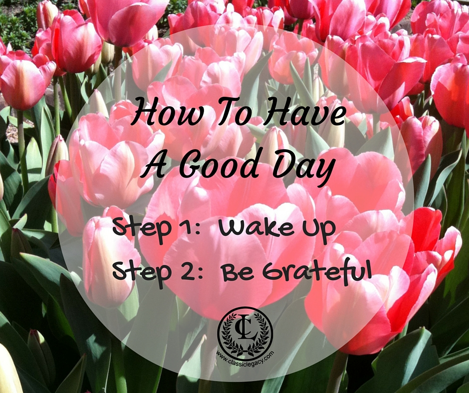 Shareable Quote How to Have a Good Day