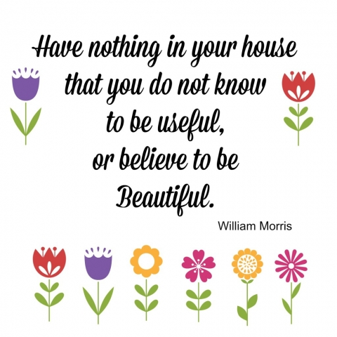 Quote Have nothing in your house that you do not know to be useful or beautiful
