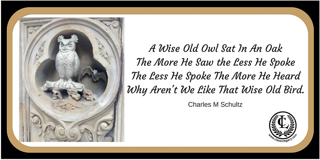 Wise Old Owl Charles M Schultz quote