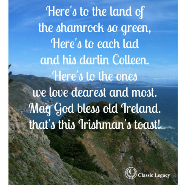 Irish Quotes Irishman's Toast