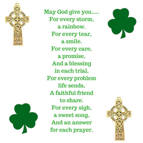 Irish Quote May God Give you for every storm a rainbow