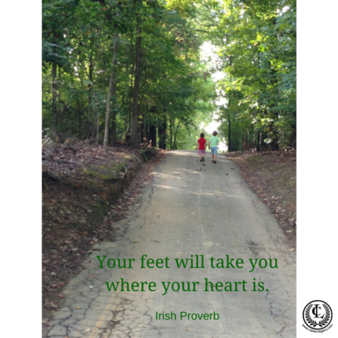 Your feet will take you