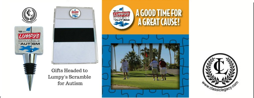 Custom Gifts for Lumpy's Golf Tournament for Autism