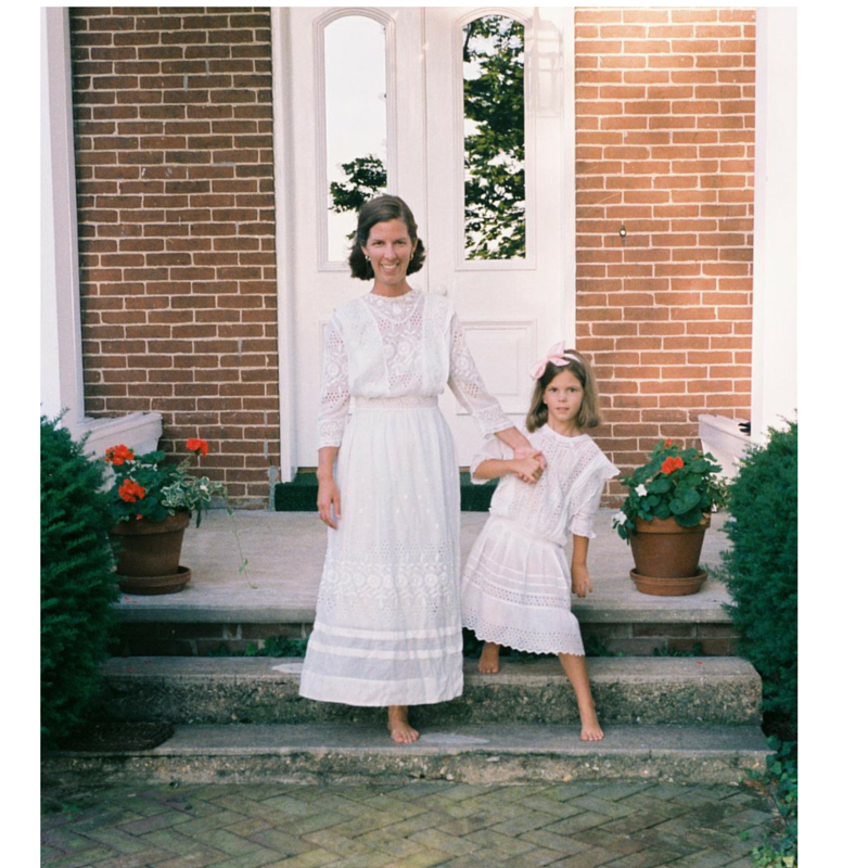 Catherine Tatum and daughter modeling vintage clothes
