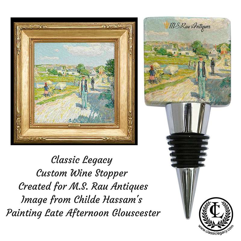 Art Museum Gifts include this custom wine bottle stopper created exclusively for the MS Rau Gallery