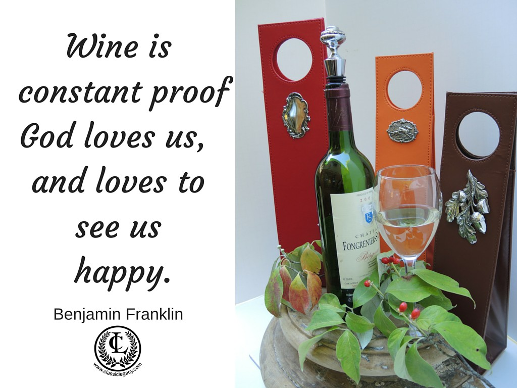 Wine Proof God Loves us