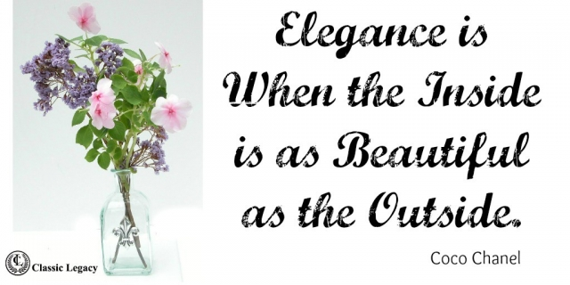 Elegance is Quote Coco Chanel